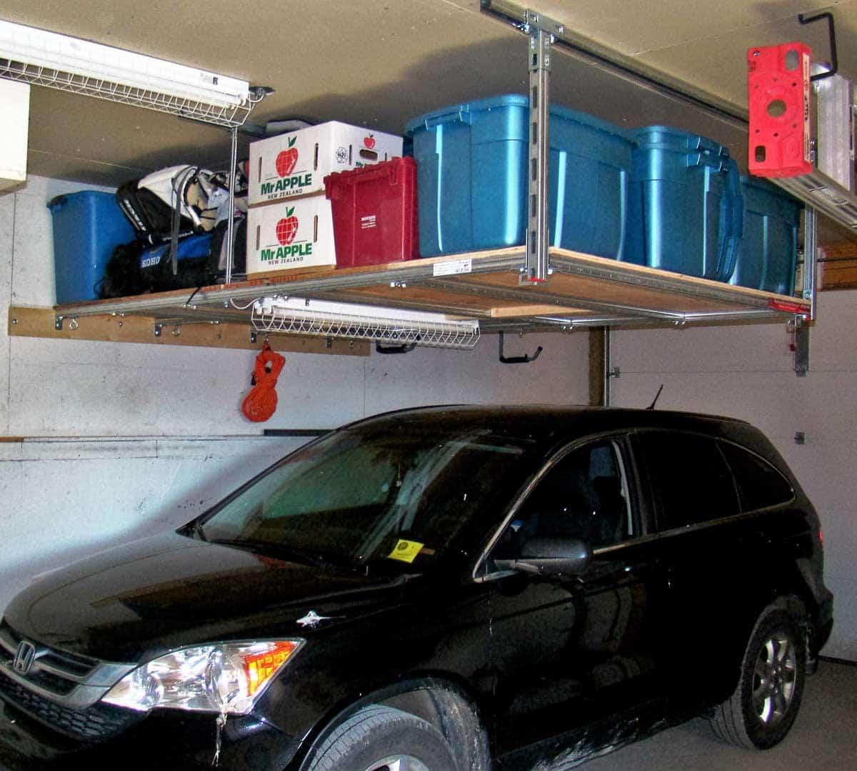 Storage Above. Cars Below