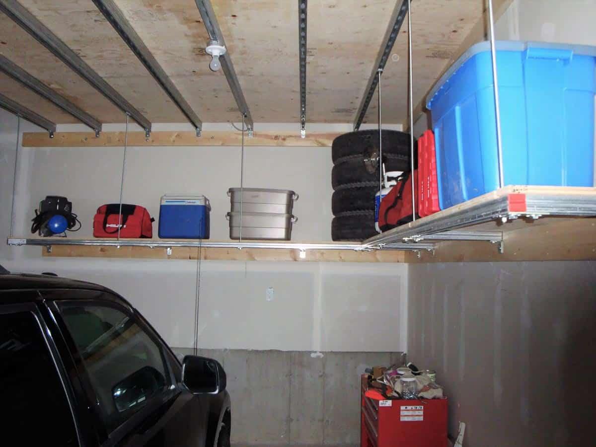 After Hanging Shelves under the Main Storage
