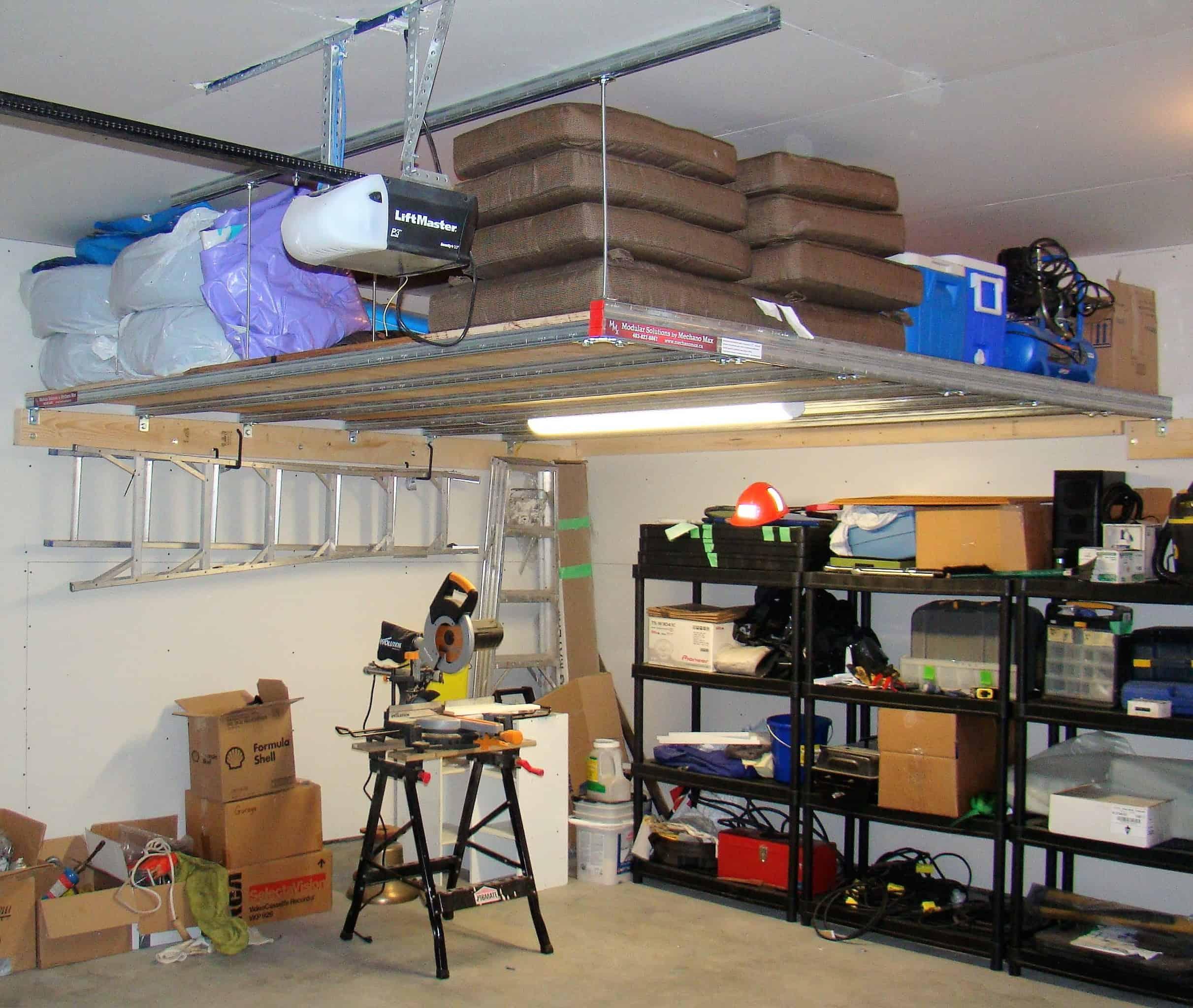 Storage Above Work Space Below