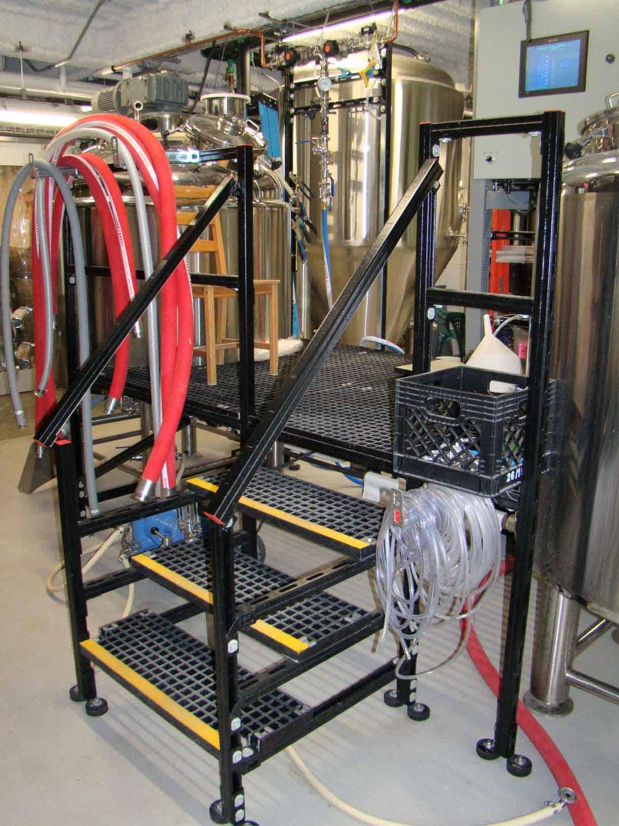 Custom Stairs & Platform for Craft Brewery