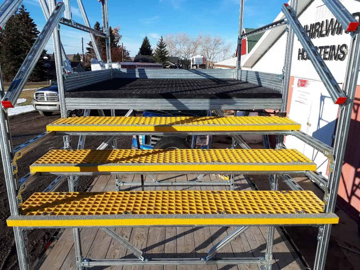Non Slip Corrosion Free Fiberglass Stairs and Platform