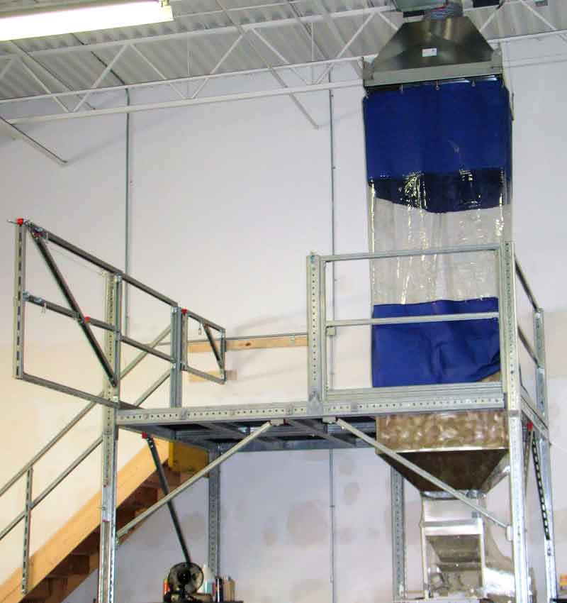Self Closing Pallet Gate & Integrated Hopper