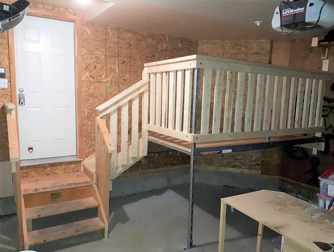 Storage Loft with Stairs