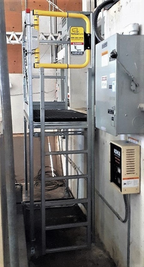 Safety Upgrade Replace Ladder with Access Platform